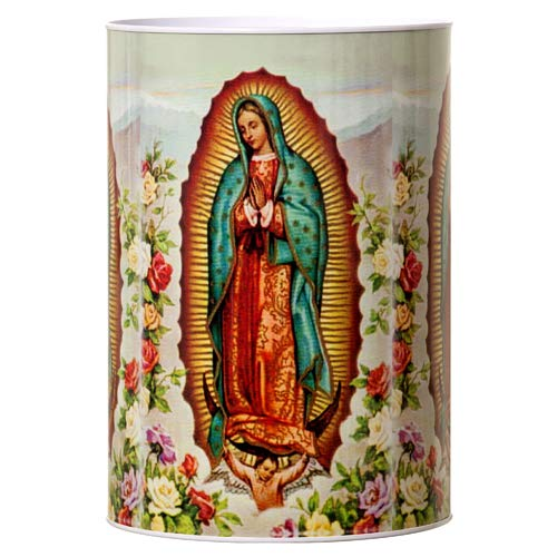 Dollaritem New 332594 Coin Bank Tin Religious Guadalupe 6'' X 8.5'' #23240 (24-Pack) Coin Bank Wholesale Bulk Novelties Coin Bank Religious by Dollaritem (Image #1)