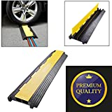 GC Global Direct Channel Warehouse Cable Protector Ramp Traffic Wire Cover (2-channel black/yellow)