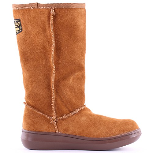 Rocket Dog Sugardaddy Womens Slip On Suede High Boots Chestnut - 4