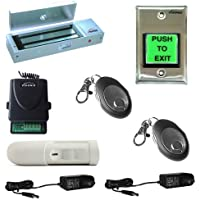 Visionis FPC-5356 One door Access Control Outswinging door 1200lbs Electromagnetic lock kit with Wireless Receiver Remote and PIR Kit