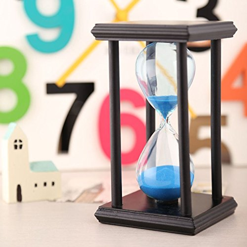 30Mins Wooden Sand Clock Sandglass Hourglass Timer Decor Gift