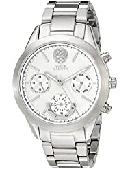 Vince Camuto Womens VC/5243SVSV Multi-Function Dial Silver-Tone Bracelet Watch