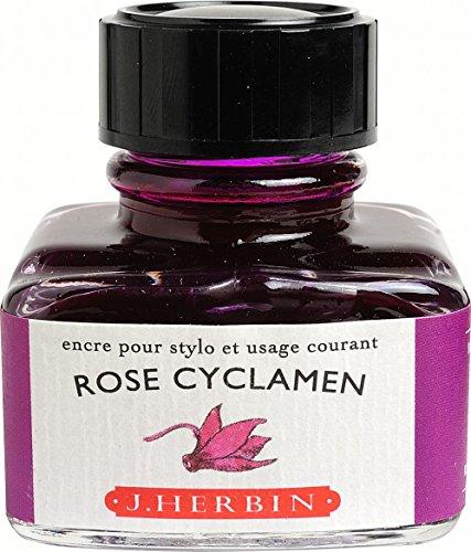 J. Herbin Fountain Pen Ink 30Ml Rose Cyclamen