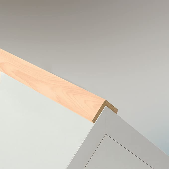Knickleiste Knickwinkel Winkelleiste Abdeckleiste aus MDF in Ahorn 2600 x 44 mm