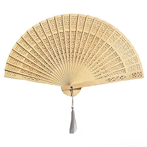 Mcuppe Chinese Hand Fans – Favors Home Decoration Party -Baby Shower Gifts & Wedding (26 Pack)
