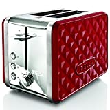 BELLA 13780 Diamonds Collection 2-Slice Toaster, Red