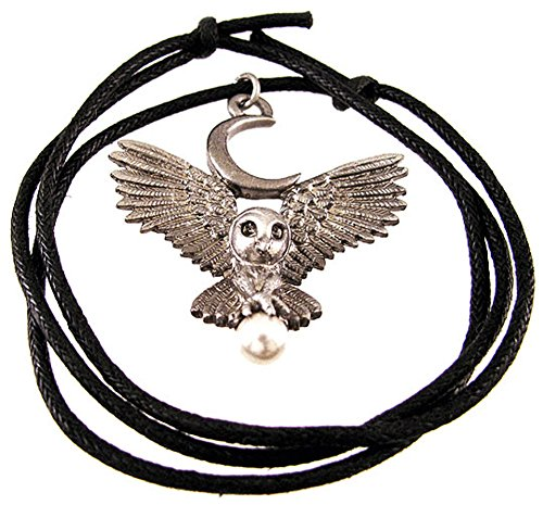 Things2Die4 `Flight Of The Goddess` Pewter Owl Pendant Pagan