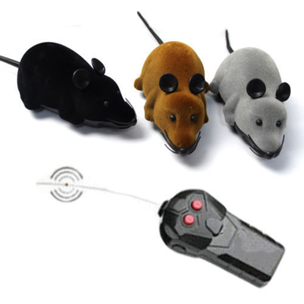 Yinpinxinmao Remote Control RC Rat Mouse Wireless for Cat Dog Pet Funny Toy Novelty Gift