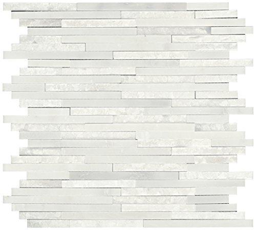- Dal-Tile M19038RANDMS1P Marble Tile First Snow Elegance HONED/Polished/Split 6 x 19 1/2