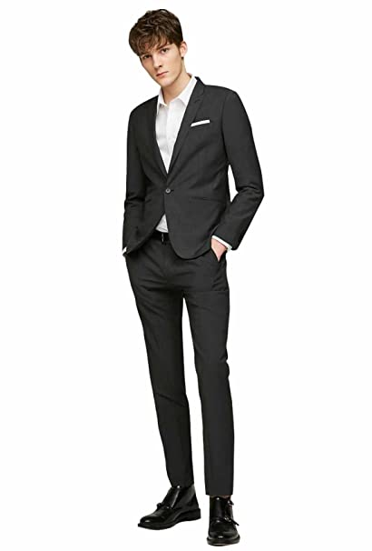 2 Niño Boda Trajes Negro Dressvip Sólido 2018 Color Para Hombres vqpEyzf