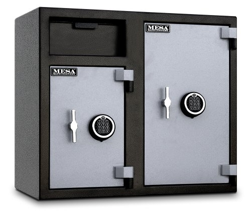 Mesa Safe MFL2731EE Depository Safe, 2.6 Left and 4.7 Right Interior Cubic feet, 2 Compartments