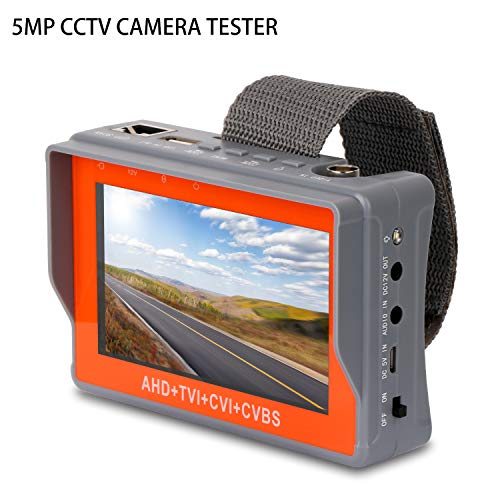 SGEF CCTV Tester 4-in-1 Portable Camera Tester AHD/TVI/CVI/CVBS Analog Tester 4.3-inch LCD Moniter Analog Video Test Cable Test PTZ Control 12V Power Output