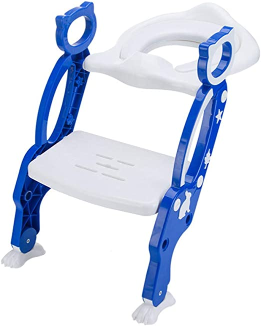 YuFLangel Asiento de Inodoro para Entrenamiento de bebé con Escalera Ajustable para niños y niñas: Amazon.es: Hogar