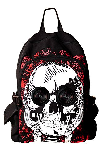 Rucksack mit Lautsprechern Totenkopf - Skull Backpack with Speakers