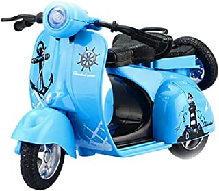1:14 Scale Mini Alloy Pull Back Cute Motorcycle Diecast Vehicle Model Kids Toy Gift(blue)