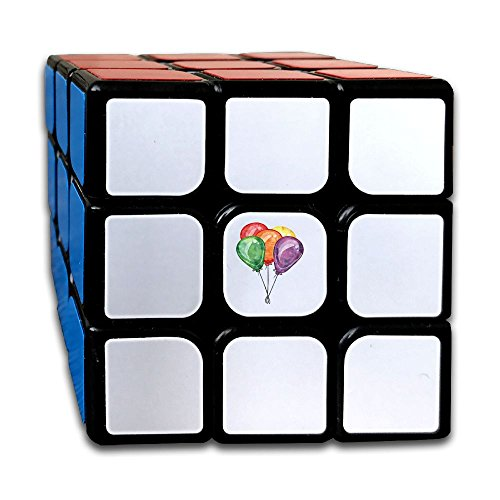 Funny Humor Design Colorful Beautiful Birthday Party Balloons 3x3 Speed Cube Fancy Toy Magic Cube by Huangyustore