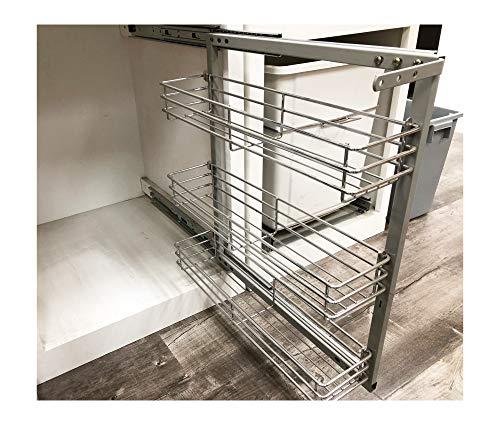 - ML-017C Cabinet Spice Rack- 3 shelves Full Pullout Set