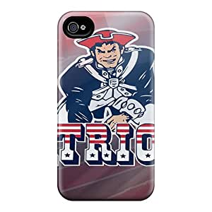 Protective Hard Phone Covers For Iphone 4/4s (MUA19128fZPF) Provide Private Custom Attractive New England Patriots Image