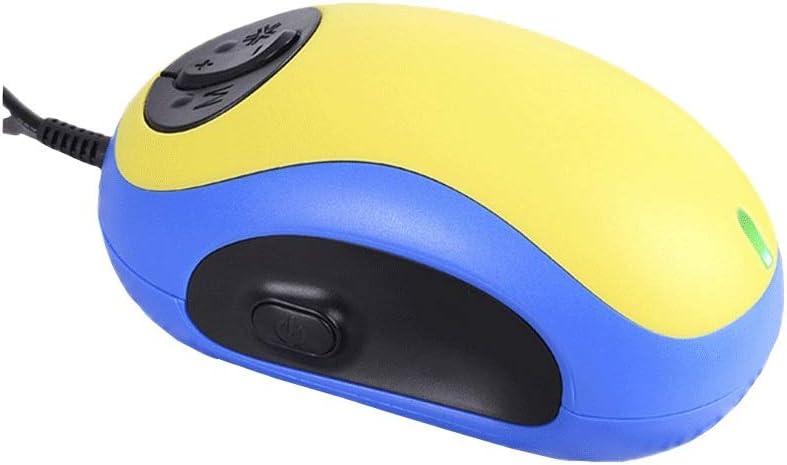 Conveniente Practico Lupa electrónica de mano, lupa de observación de ratón for lectura de pantalla de PC, 20x de voz por cable, Ancianos, Ayuda visual, E-reader, Ambliopía, visión baja, lupa mini azu