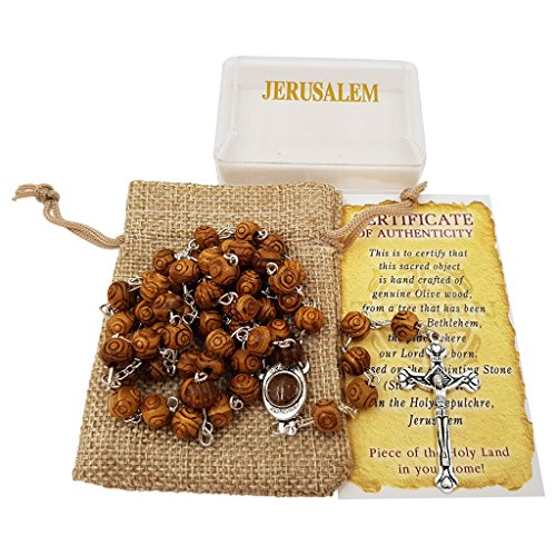 Carved-Beads-Catholic-Rosary-Necklace-Jerusalem-Soil-Centerpiece-Linen-Rosary-Pouch-Certificate-Gift-Box