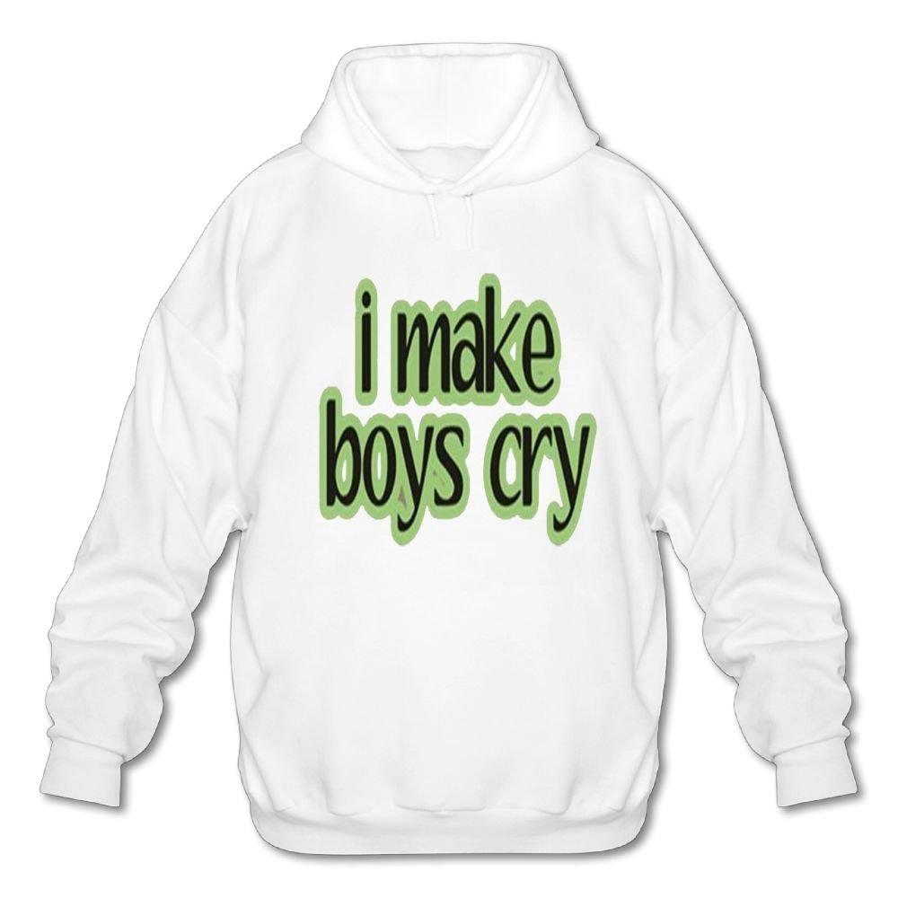 Achunlan Mens Long Sleeve Cotton Hoodie I Make Boys Cry 2 Sweatshirt