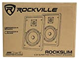 Pair Rockville RockSlim White Front+Rear Surround
