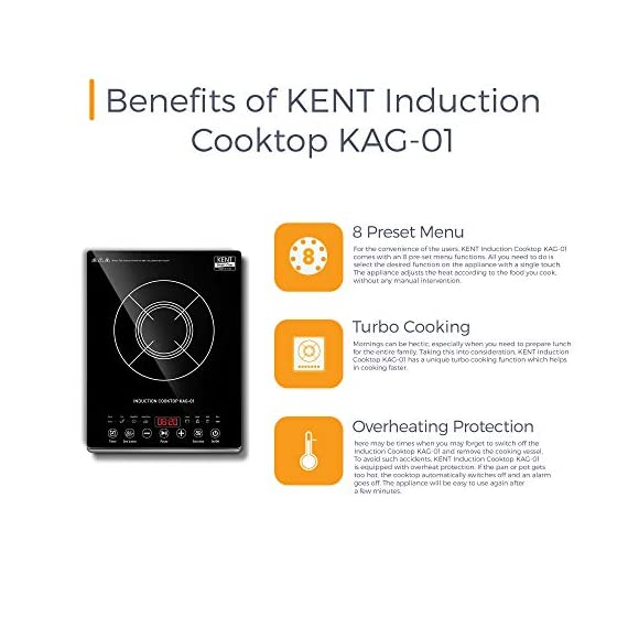 KENT - 16036 Induction Cooktop KAG-01 2000-Watt (Black) 3
