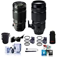 Fujifilm XF 50-140mm (76-213mm) F2.8 R LM OIS Weather Resistant Lens - Bundle w/Fujifilm XF 100-400mm F4.5-5.6 R LM OIS WR Lens, Lens Case, Lens Pouch, 72mm/77mm Filter Kit, Flex Lens Shade, and More