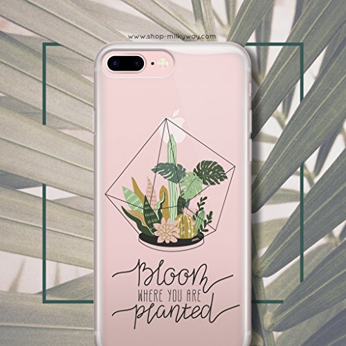 Milkyway Cases BLOOM WHERE YOU ARE PLANTED Clear TPU Cell Phone Case for iPhone 6/6S