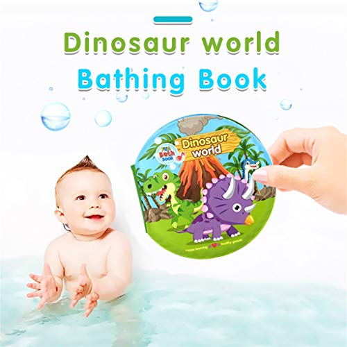 ks - Kid Shower Bath English Cartoon Animal Cloth Book, Non-toxic and Resistance to Tear - Early Education Toys for Toddler, Infants and Kids ( D) ()