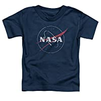 NASA Distressed Logo Unisex Toddler T Shirt for Boys and Girls