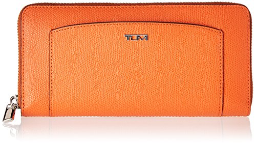 Tumi Women's Sinclair Zip-Around Continental Travel Purse, Orange, One Size