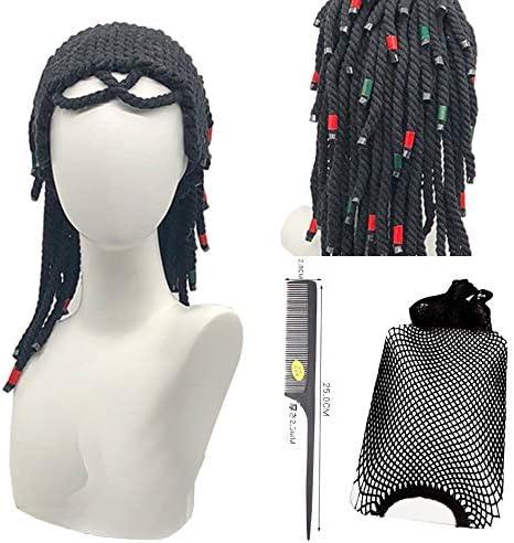 コスプレウィッグ 呪術師 ドーヴァル 耐熱 かつら cosplay wig イベント ハロウィン 仮装 専用ネットと櫛付 ブラッ