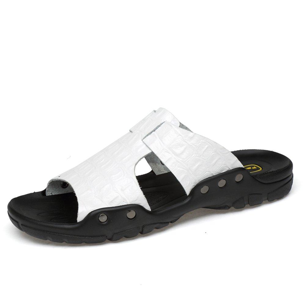 Zapatos para Hombres Cuero Verano Comodidad Zapatillas y Chanclas Sandalias Zapatos para Caminar Zapatos Abiertos 46 EU|Un