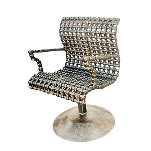 Repurposed Scrap Metal Chain Modern Arm Chair