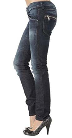 "ce73260e Diesel Clush Jeans 30"" Waist 34"" Leg Blue Skinny Tapered Slim Leg  Faded Low"