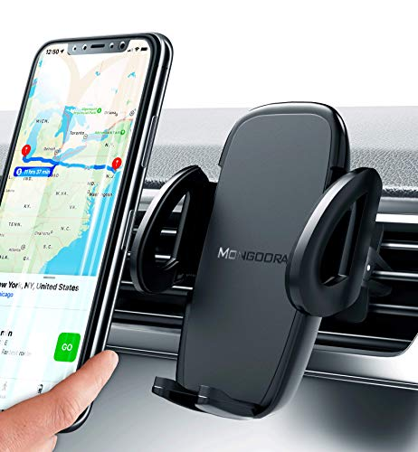 Universal Air Vent Car Phone Mount Holder – Updated Version by Mongoora – for Any Smartphone – Car Cell Phone Holder…