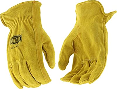 IRONCAT 9405 Select Split Cowhide Leather Driver Work Gloves: Tan, Large, 1 Pair