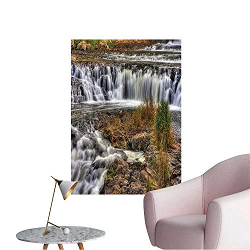 Wall Decoration Wall Stickers Colorful Scenic Waterfall in High Dynamic Range. Print Artwork,20