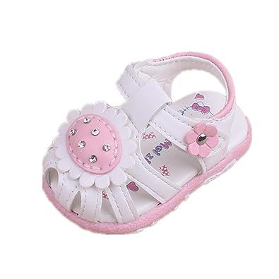 f0f653bcc74a9 Auxma Sandales Douces Bébé Fille,Souliers d'été pour bébés Premières  Chaussures de Marche pour 0-24 Mois: Amazon.fr: Chaussures et Sacs