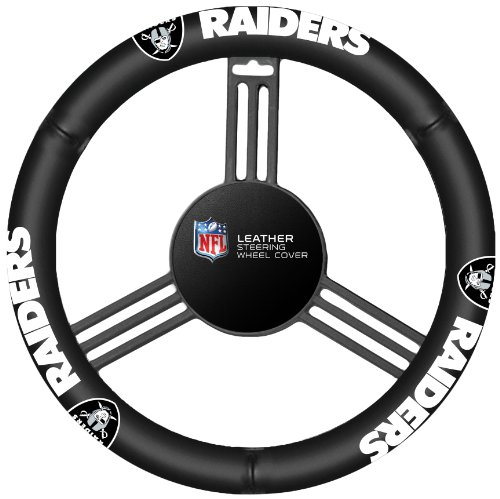 Leather Steering Wheel Cover (Oakland Raiders Steering Wheel Cover)