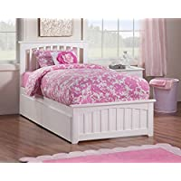 Eco-friendly Twin XL Bed with 2-Urban Bed Drawer (White Finish)