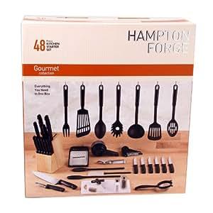Hampton Forge Essex 48-Piece Kitchen Starter Set, HMC01B085A