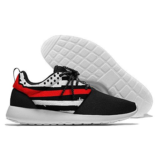 Yoigng Heren Rode Dunne Lijn Vlag Jogging Schoenen Sport Sneakers Casual Schoenen