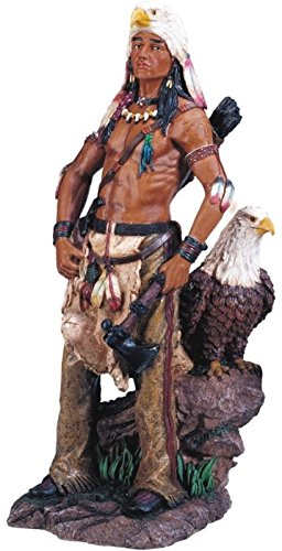 Indian Eagle (StealStreet Native American Warrior with Eagle Collectible Indian Figurine Sculpture)