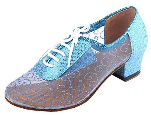 Practice Heel Womens Round toe Classical Party Comfort CFP shoes Mesh Low Beginner Green Dance wESFqSx6