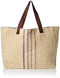'Ale By Alessandra Women's Le Marche French Market Inspired Bag, Khaki/Blue, One Size