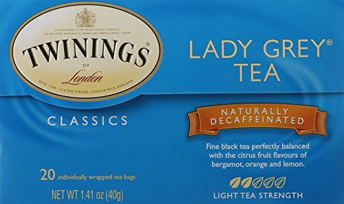 (Twinings of London Decaffeinated Lady Grey Black Tea Bags, 20 Count)
