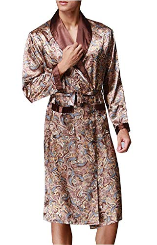3 Gown Accappatoio Robe Notte Comodo Mens Da Loungewear Camicia Dressing Longsleeve Semplice Stile New Leggero E Bathing HwaAYxqCw