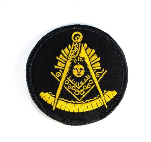 Masonic Past Master Square and Compass Embroidered Patch Iron Sew PWPM5040